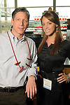 Stephen Potzmann and Jennifer Jones at the Cinco de Mayo themed reception held by Siemens at the West Club in Reliant Stadium Wednesday May 2,2012. (Dave Rossman Photo)