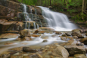 Franconia Notch State Park - Stairs Falls on Dry Brook in Lincoln, New Hampshire during the spring months. The Falling Waters Trail passes by this waterfall.