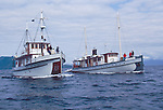 Alaska, Southeast Alaska, Passenger vessels, M/V Catalyst and the M/V Westward cruising Stephens Passage, These small ship cruises are by Pacific Catalyst II Inc.