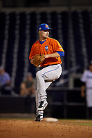 St. Lucie Mets relief pitcher Conner O'Neil (17) during a Florida State League game against the Tampa Tarpons on April 10, 2019 at George M. Steinbrenner Field in Tampa, Florida.  St. Lucie defeated Tampa 4-3.  (Mike Janes/Four Seam Images)