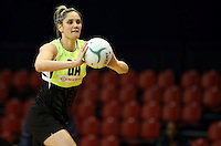 09.10.2016 Silver Ferns Te Paea Selby-Rickit in action during training at the Silver Dome in Launceston in Australia. Mandatory Photo Credit ©Michael Bradley.