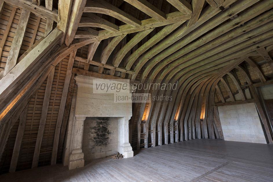 Europe/France/Centre/41/Loir-et-Cher/Sologne/ Chambord: Château de Chambord - Détail des charpentes , Patrimoine Mondial de l'UNESCO, // France, Loir et Cher, Loire Valley listed as World Heritage by UNESCO, Chateau de Chambord  Framework