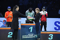 SHORT TRACK: ROTTERDAM: Ahoy, 12-03-2017, KPN ISU World Short Track Championships 2017, Podium Overall Classification Men, World Champion Yi Ra Seo (KOR), ©photo Martin de Jong