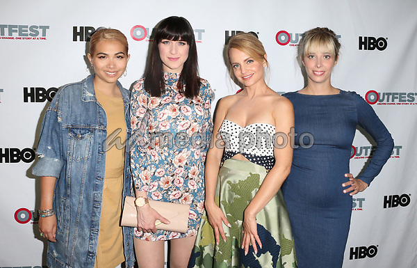 "10 July 2017 - West Hollywood, California - Hayley Kiyoko, Lena Hall, Mena Suvari, Elizabeth Rohrbaugh. ""Becks"" 2017 Outfest Los Angeles LGBT Film Festival Screening. Photo Credit: F. Sadou/AdMedia"