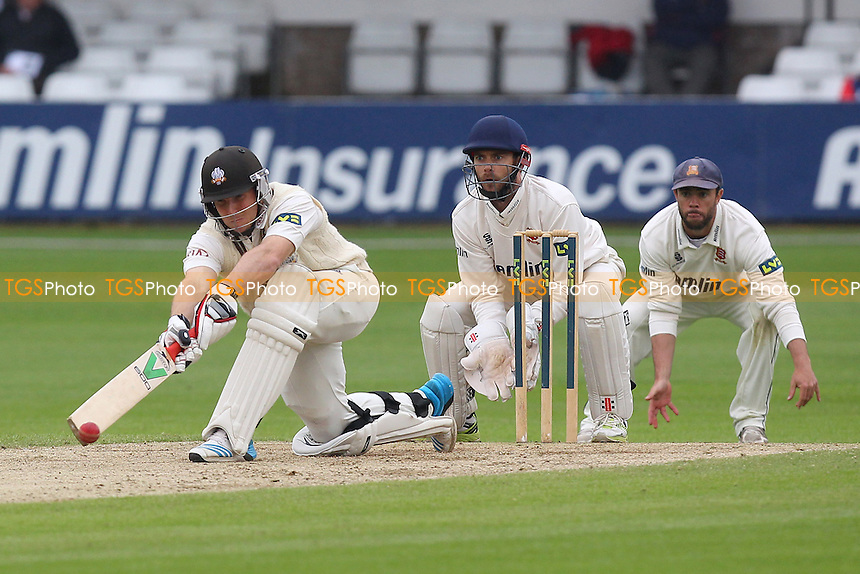 Gary Wilson in batting action for Surrey as James Foster looks on - Essex CCC vs Surrey CCC - LV County Championship Division Two Cricket at the Essex County Ground, Chelmsford, Essex - 27/05/14 - MANDATORY CREDIT: Gavin Ellis/TGSPHOTO - Self billing applies where appropriate - 0845 094 6026 - contact@tgsphoto.co.uk - NO UNPAID USE