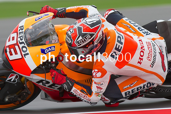 hertz british grand prix during the world championship 2014.<br /> Silverstone, england<br /> August 28, 2014. <br /> FP MotoGP<br /> marc marquez<br /> PHOTOCALL3000/ RME