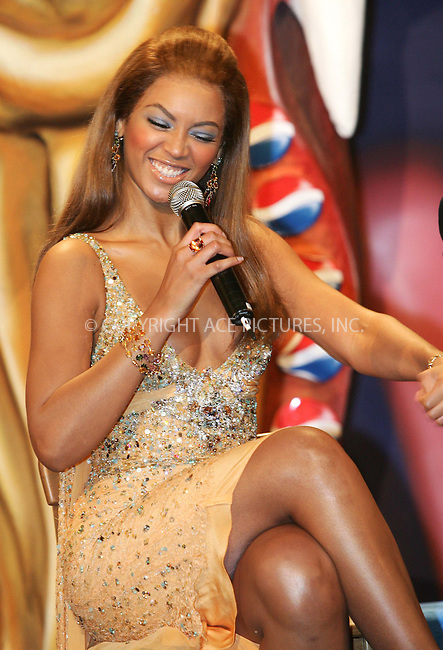 WWW.ACEPIXS.COM . . . . .  ... . . . . US SALES ONLY . . . . .....MADRID, FEBRUARY 23, 2005....Beyonce Knowles in Madrid to launch the Pepsi Spot campaign which took place at the Circulo De Bellas Artes.....Please byline: FAMOUS-ACE PICTURES-D. SOUTO... . . . .  ....Ace Pictures, Inc:  ..Philip Vaughan (646) 769-0430..e-mail: info@acepixs.com..web: http://www.acepixs.com