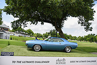 The tournament winner also receives this 1973 Challenger following the 2019 Charles Schwab Challenge, Colonial Country Club, Ft. Worth, Texas,  USA. 5/23/2019.<br /> Picture: Golffile | Ken Murray<br /> <br /> All photo usage must carry mandatory copyright credit (© Golffile | Ken Murray)