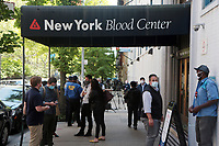 NEW YORK, NEW YORK-MAY 21, 2020- New York City Mayor Bill De Blasio, New York First Lady Chirlane McCray hold press conference after donating blood at the New York Blood Center with New York Assembly Member Rebecca Seawright and Christopher D. Hillyer, MD, President and CEO of New York Blood Center (NYBC) in attendance requesting New Yorkers to donate blood.  Photo Credit: Mpi43/MediaPunch