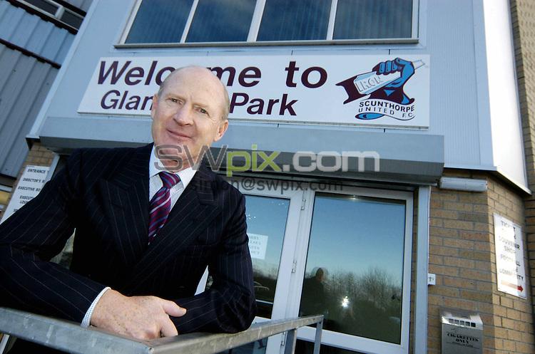 Pix: Simon Wilkinson/SWpix.com. Football, FA Cup Preview, Scunthorpe United Chairman Steve Wharton..COPYRIGHT PICTURE>>SIMON WILKINSON>>01943 608782>>..Scunthorpe United Chairman Steve Wharton