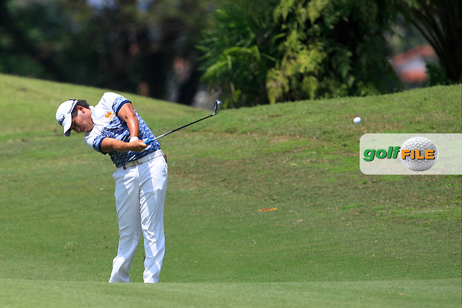 Poom Saksansin (THA) in action on the 2nd during Round 1 of the Maybank Championship at the Saujana Golf and Country Club in Kuala Lumpur on Thursday 1st February 2018.<br /> Picture:  Thos Caffrey / www.golffile.ie<br /> <br /> All photo usage must carry mandatory copyright credit (© Golffile   Thos Caffrey)