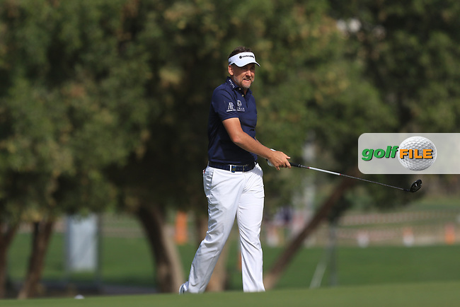 Ian Poulter (ENG) on the 3rd during Round 3 of the Omega Dubai Desert Classic, Emirates Golf Club, Dubai,  United Arab Emirates. 26/01/2019<br /> Picture: Golffile | Thos Caffrey<br /> <br /> <br /> All photo usage must carry mandatory copyright credit (&copy; Golffile | Thos Caffrey)