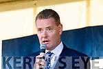 Kerry County Board Chairman Tim Murphy at the Kerry Minor Football team homecoming at Kilcummin at Kilcummin GAA club on Monday night.