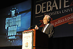 "Wolf Blitzer, anchor of CNN's The Situation Room, speaking at Hofstra University on Thursday, March 29, 2012, in Hempstead, New York, USA. During Blitzer's talk, he shared news clips, including from CNN presidential primary debates he moderated and Election Night 2008 which he anchored. Hofstra's ""The World Today"" event is part of ""Debate 2012 - Pride, Politics and Policy"" which leads up to the Presidential Debate Hofstra is hosting on October 15, 2012."