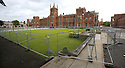 Extra Security Fencing rings Queen's University Belfast preventing protesters access ahead of this weeks G8 Summit in Fermanagh, Northern Ireland, Saturday, June 15, 2013. Photo/Paul McErlane.   Northern Ireland, 15 June 2013. Leaders from Canada, France, Germany, Italy, Japan, Russia, USA and UK are meeting at Lough Erne in Northern Ireland for the G8 Summit 17-18 June.