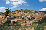 Photo shows the crumbled remains of the village of Gibellina in the northwestern part of Sicily, Italy, which was destroyed by an earthquake in 1968. The village remains as it was, while a new, ultra-modernist town was constructed for surviving residents 10 km away.Photo shows the crumbled remains of the village of Gibellina in the northwestern part of Sicily, Italy, which was destroyed by an earthquake in 1968. The village remains as it was, while a new, ultra-modernist town was constructed for surviving residents 10 km away.