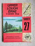 Discoverer series 1:50,000 ordnance survey map of Upper Lough Erne, Northern Ireland sheet 27
