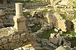 Israel, Jerusalem, the Pool of Bethesda, the remains of the Temple of Asclepius or Serapis