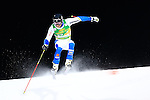 Andre Myhrer competes during the FIS Alpine Ski World Cup Men's Parallel Giant Slalom in Alta Badia, on December 21, 2015. Norway's Kjetil Jansrud wins the race, Aksel Lund Svindal second and Sweden's Andre Myrher is third.
