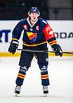 Stockholm 2014-09-05 Ishockey CHL Djurg&aring;rdens IF - Eisb&auml;ren Berlin :  <br /> Djurg&aring;rdens Linus Arnesson <br /> (Foto: Kenta J&ouml;nsson) Nyckelord:  Djurg&aring;rden Hockey Hovet CHL Eisb&auml;ren Berlin portr&auml;tt portrait