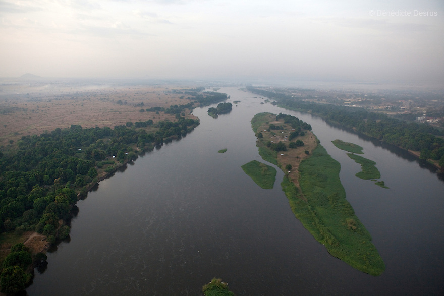 11 december 2010 - Juba, South Sudan - Aerial view of The Nile in Juba, South Sudan. Photo credit: Benedicte Desrus