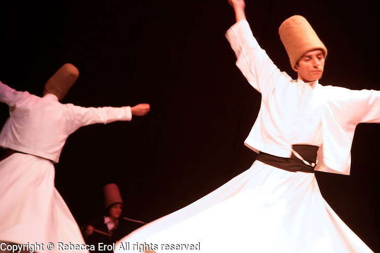 The whirling dervishes in Istanbul, Turkey