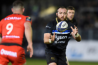 Tom Dunn of Bath Rugby /receives the ball. European Rugby Champions Cup match, between Bath Rugby and RC Toulon on December 16, 2017 at the Recreation Ground in Bath, England. Photo by: Patrick Khachfe / Onside Images