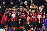 Steve Cook of AFC Bournemouth middle celebrates his goal with fellow goalscorer Junior Stanislas of AFC Bournemouth during AFC Bournemouth vs Norwich City, Caraboa Cup Football at the Vitality Stadium on 30th October 2018
