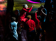 Washington, DC - Sept 17, 2017: Washington Mystics guard Elena Delle Donne (11) is introduced before playoff game between the Mystics and Lynx at the Verizon Center in Washington, DC. (Photo by Phil Peters/Media Images International)
