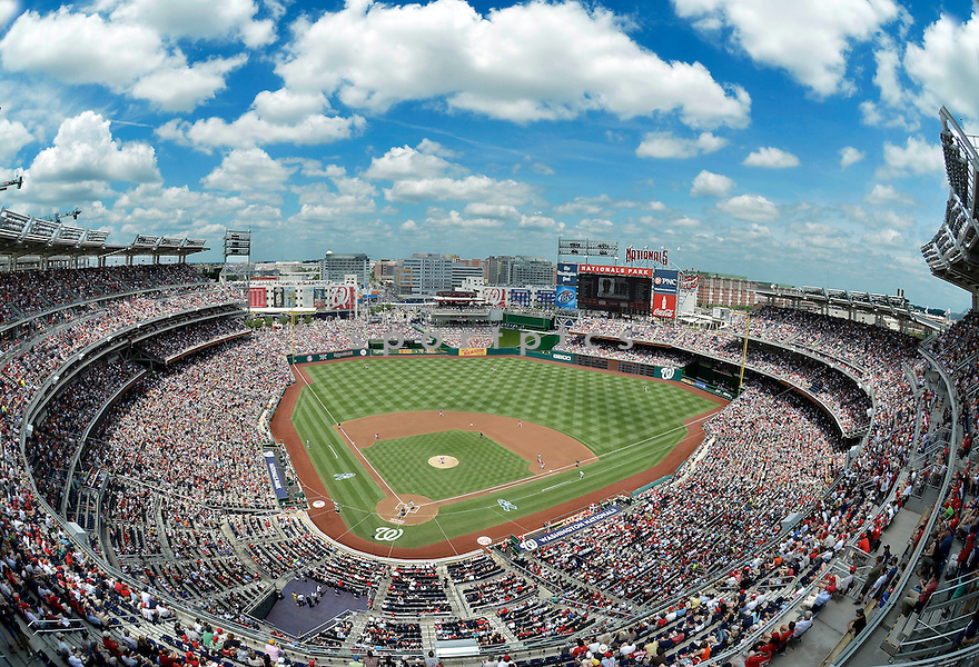 An overall view of Nationals Park in Washington, DC, during a game between the Washington Nationals and the New York Yankees on June 17, 2012. (AP Photo/Chris Bernacchi)