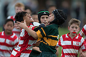 Counties Manukau Junior Under 12 Restricted Final rugby game between Karaka Red and Pukekohe Green, played at Patumahoe on Saturday September 3rd 2016. Karaka won the game 53 - 7.<br /> Photo by Richard Spranger.