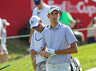 Potomac, MD - June 30, 2018: Chesson Hadley (USA) walks with his caddie during Round 3 at the Quicken Loans National Tournament at TPC Potomac in Potomac, MD, June 30, 2018.  (Photo by Elliott Brown/Media Images International)