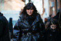Emmanuelle Alt attends Day 6 of New York Fashion Week on Feb 17, 2015 (Photo by Hunter Abrams/Guest of a Guest)