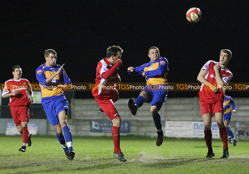 Toran Senghore goes close to a goal for Romford - Romford vs Harlow Town - Ryman League Division One North at Mill Field, Aveley FC - 20/04/10 - MANDATORY CREDIT: Gavin Ellis/TGSPHOTO - Self billing applies where appropriate - Tel: 0845 094 6026