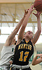 Caitlin Albanese #12 of Wantagh draws a shooting foul from beneath the rim during a non-league varsity girls basketball game against host Seaford High School on Friday, Dec. 29, 2017. Seaford won by a score of 65-56.