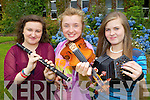 Lixnaw musicians l-r: Ciara Shannon, Clodagh Gaynor and Elena McElligott at the Fleadh Cheoil na Mumhan in Killarney on Saturday