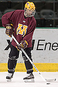Gino Guyer - The University of Minnesota Golden Gophers took part in their morning skate at Ralph Engelstad Arena in Grand Forks, North Dakota, on Saturday, December 10, 2005.