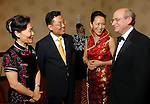 From left: Qiao Hong, Xie Fung, Y. Ping Sun and her husband David Leebron at the Asia Society Gala at the InterContinental Houston Hotel Thursday Feb. 26, 2009.(Dave Rossman/For the Chronicle)