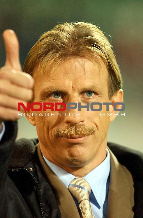 EM Qualifikation U21 Nationalmannschaft<br /> Bayaren<br /> Deutschland vs. Tuerkei<br /> Christoph Daum war auch bei dem Laenderspiel Deutschland gegen Tuerkei in der Bayarena<br /> <br /> Foto &copy; nordphoto <br /> <br />  *** Local Caption *** Foto ist honorarpflichtig! zzgl. gesetzl. MwSt.<br />  Belegexemplar erforderlich<br /> Adresse: nordphoto<br /> Georg-Reinke-Strasse 1<br /> 49377 Vechta