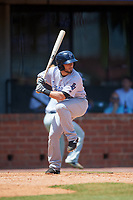 Pensacola Blue Wahoos shortstop Blake Trahan (32) at bat during a game against the Mobile BayBears on April 26, 2017 at Hank Aaron Stadium in Mobile, Alabama.  Pensacola defeated Mobile 5-3.  (Mike Janes/Four Seam Images)