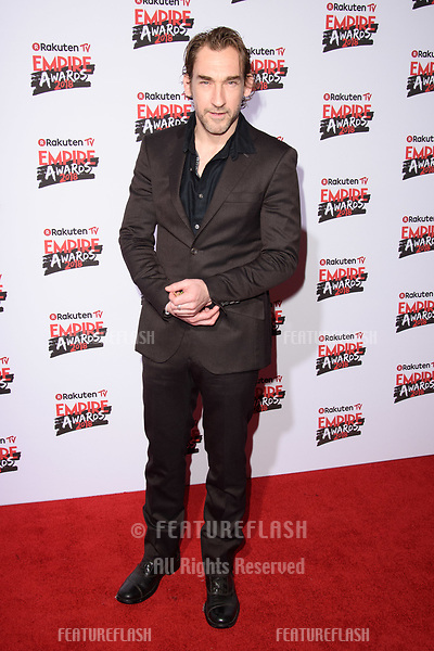 Joseph Mawle arriving for the Empire Awards 2018 at the Roundhouse, Camden, London, UK. <br /> 18 March  2018<br /> Picture: Steve Vas/Featureflash/SilverHub 0208 004 5359 sales@silverhubmedia.com