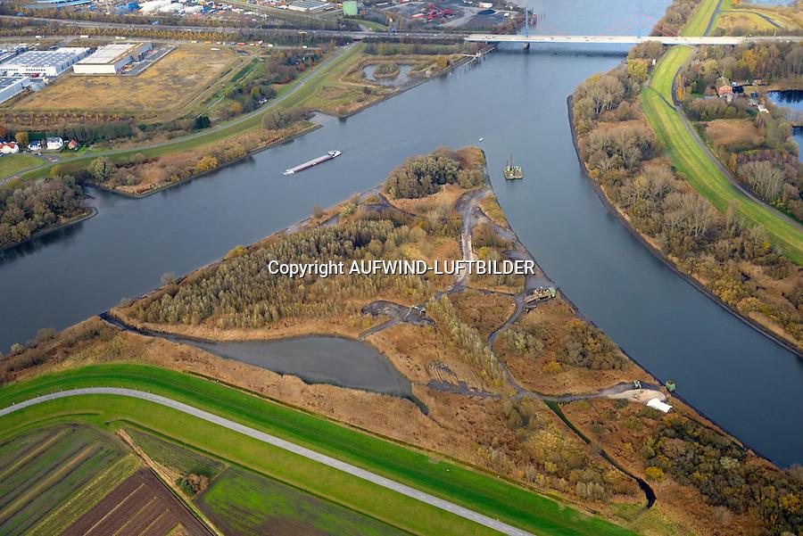 Spadenlaender Spitze: EUROPA, DEUTSCHLAND, HAMBURG, BERGEDORF, (EUROPE, GERMANY), 29.11.2016: Spadenlaender Spitze, Zufluss der Dove Elbe in den Hauptstrom