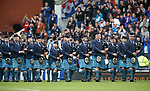 14.09.2019 Rangers v Livingston: Pipes and drums at half time