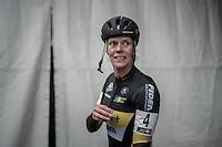 A very happy Ellen Van Loy (BEL/Telenet-Fidea) finished 2nd behind Marianne Vos<br /> <br /> elite women's race<br /> GP Sven Nys 2017