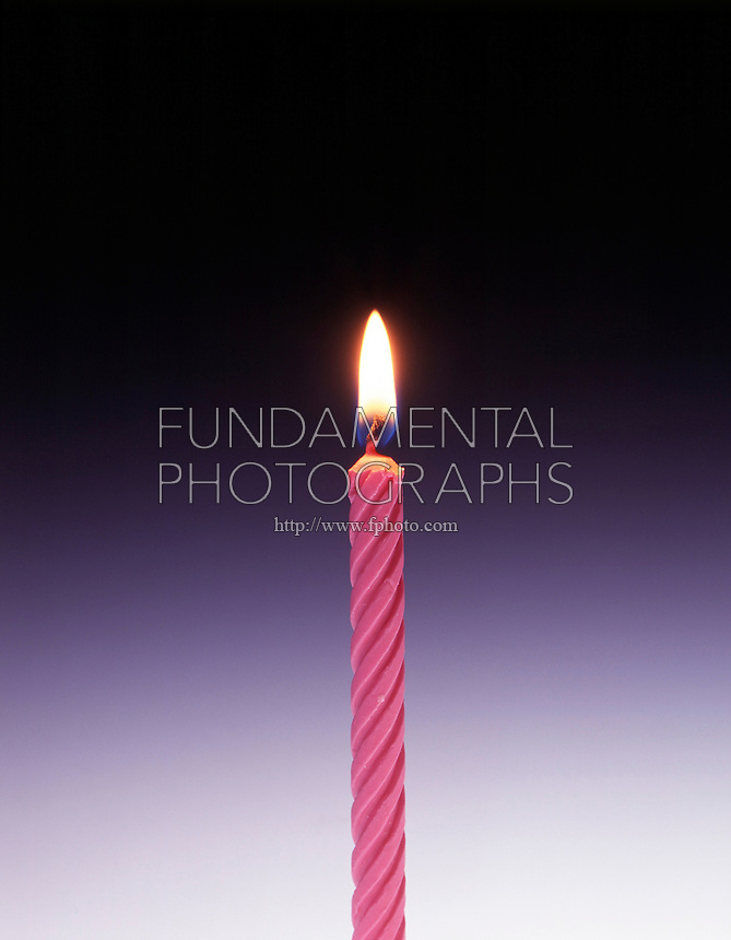 PARAFFIN CANDLE BURNING<br /> In air (1 of 2)<br /> Candle burns normally.
