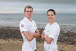 Team GB Rio Olympics marathon swimming team.<br /> Jack Burnell & Keri Anne Payne.<br /> Langland Bay<br /> 26.07.16<br /> ©Steve Pope Sportingwales