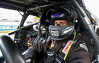 Apr. 5, 2013; Las Vegas, NV, USA: NHRA pro stock driver Vincent Nobile during qualifying for the Summitracing.com Nationals at the Strip at Las Vegas Motor Speedway. Mandatory Credit: Mark J. Rebilas-
