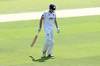 Alastair Cook of Essex leaves the field having been dismissed for 0 during Essex CCC vs Yorkshire CCC, Specsavers County Championship Division 1 Cricket at The Cloudfm County Ground on 4th May 2018