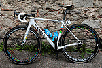 Race leader World Champion Alejandro Valverde's (ESP) Movistar Team Canyon bike before Stage 2 of the Route d'Occitanie 2019, running 187.7km from Labruguière to Martres-Tolosane, France. 21st June 2019<br /> Picture: Colin Flockton | Cyclefile<br /> All photos usage must carry mandatory copyright credit (© Cyclefile | Colin Flockton)