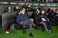 Scott Parker Manager of Fulham during the Sky Bet Championship match between Swansea City and Fulham at the Liberty Stadium in Swansea, Wales, UK. Friday 29 November 2019